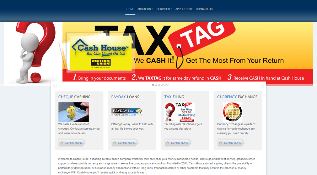 Cash House Web Design