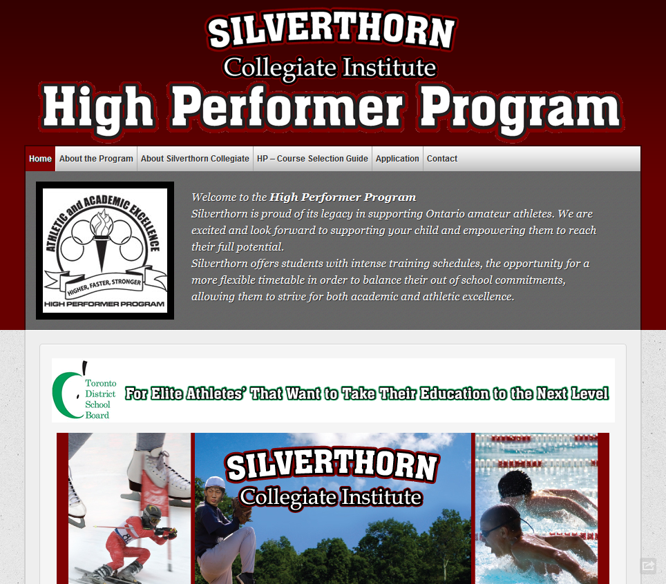 Silverthorn CI High Performance Program