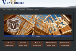 Vicar Homes Web Design